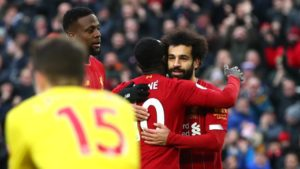 Premier League: Liverpool bat Watford 2-0